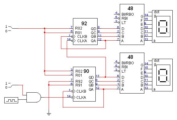 digital clock awesomeness in randomness rh vbvyas wordpress com Up Counter Circuit Bcd Counter Circuit